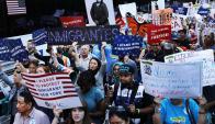 """Los """"dreamers"""" son jóvenes que llegaron a EEUU como hijos de inmigrantes legales. Foto: AFP"""