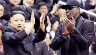 Amigos. Dennis Rodman reunido con el dictador Jong-un.