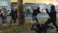 Los hinchas del Spartak se enfrentaron a la Policía en Eslovenia