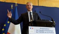 """Bruno Le Maire. El ministro francés de Economía, aseguró que """"las grandes compañías de Internet no están pagando una contribución justa en Europa"""". (Foto: AFP)"""