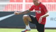 José María Giménez en el entrenamiento del Atlético. Foto: atleticodemadrid.com