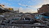 En abril de 2016 hubo un terremoto de 7.8 grados en Ecuador. Foto: AFP