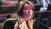 La legisladora fue rapiñada en dos oportunidades frente a la sede del Partido Colorado. Foto: F. Ponzetto
