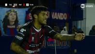 El festejo de Adrián Balboa del gol anotado para patronato. Foto: captura