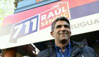 Raúl Sendic en la sede de la Lista 711. Foto: Marcelo Bonjour.