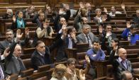 La vicepresidencia fue aceptada por unanimidad, tras la renuncia de Sendic. Foto: F. Flores
