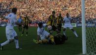 Recordado. El gol de Fernández en 2014 a los 91 minutos.