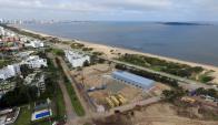 El proyecto de Sergio Grosskopf en la playa Mansa. Foto. Ricardo Figueredo