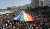 Marcha del orgullo gay en Río de Janeiro, en 2014. Foto: O Globo.