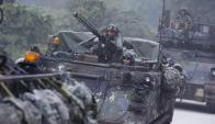 Ejercicios militares de Corea del Sur y EE.UU. Foto: EFE