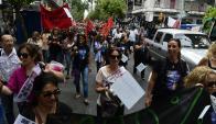 Funcionarios judiciales en una de las tantas marchas que hicieron. Foto: M. Bonjour