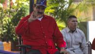 """Nicolás Maduro, recibió en el Palacio de Miraflores a centenares de seguidores que participaron en una nueva """"marcha antiimperialista"""". Foto: EFE"""