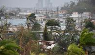 El desolador panorama que dejó María en la zona del Coliseo Roberto Clemente. Foto: AFP