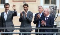 Roger Federer, Rafael Nadal, Björn Borg y Rod Laver