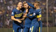 Cardona. Está jugando en gran nivel en Boca Juniors. Foto: Olé