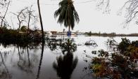 El huracán dejó a Puerto Rico aislado debido a las inundaciones. Foto: EFE