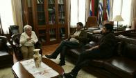 Lucía Topolansky reunida con el Pit-Cnt. Foto: Marcelo Bonjour.