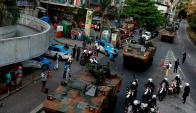 Unidades blindadas del Ejército avanzan y toman posiciones en la favela. Foto: Reuters