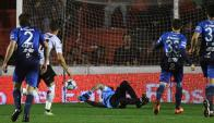 El gol de Sebastián Ribas para Patronato. Foto: clubatleticotucuman.com.ar