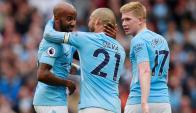 Fabian Delph cerró la goleada del Manchester City. Foto: Reuters