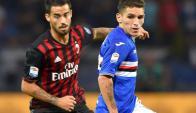 Lucas Torreira fue gran figura en el triunfo ante el Milan