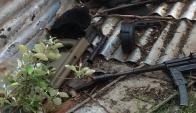 Armas de guerra incautadas en Casavalle.