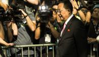 El ministro de Relaciones Exteriores de Corea del Norte se retira de la ONU. Foto: AFP