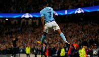 Raheem Stearling festejando el gol de Manchester City. Foto: Reuters