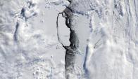 El iceberg es el quinto más grande desde el año 2000. Foto: EFE