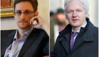 Snowden y Assange, muy activos con el referéndum de Cataluña. Fotos: AFP