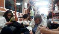Incidentes en el metro de Madrid. Foto: Vía El País de Madrid