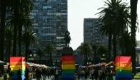 La Plaza Independencia recibió al Mes de la Diversidad. Foto: Marcelo Bonjour