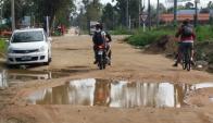 En Ciudad de la Costa: de los casi 400 kilómetros de saneamiento proyectado, en 7 años de trabajos solo se hicieron 120 kilómetros. Foto: El País