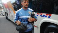 Giorgian De Arrascaeta en la selección uruguaya. Foto: Fernando Ponzetto