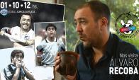 La imagen difundida por el programa para promocionar la entrevista con Recoba. Foto: Jaque Mate TV