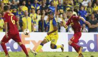 El debut de Ramiro Guerra con Villarreal ante Maccabi Tel Aviv. Foto: EFE