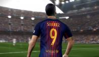 Suárez es la cara visible del PES 2018. Foto: YouTube