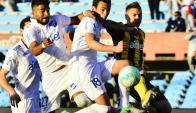 Clásico. Gonzalo Bueno fue suplente e ingresó por Sebastián Rodríguez para jugar los últimos 35'. Foto: Gerardo Pérez