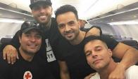 Ricky Martin, Nicky Jam, Chayenne y Luis Fonzi.