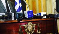 Conferencia de prensa, Poder Judicial, Suprema Corte de Justicia. Foto: Gabriel Rodríguez.