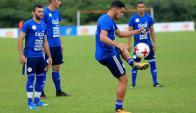 El entrenamiento de la selección paraguay en Barranquilla. Foto: AFP