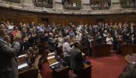 Aplausos: los legisladores integraron los organismos de control. Foto: F. Flores