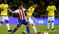 Colombia vs. Paraguay. Foto: AFP.