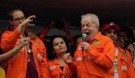 Lula Da Silva ganaría la primera vuelta con el 35-36% y también el balotaje. Foto: AFP