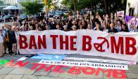El grupo aboga por la abolición de las armas nucleares. Foto: Facebook International Campaign to Abolish Nuclear Weapons (ICAN)