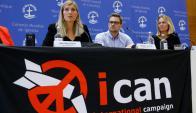 Beatrice Fihn dirige desde 2014 la Campaña Internacional para la Abolición de las Armas Nucleares. Foto: Reuters