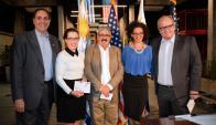 Nicholas Giacobbe, Embajadora  de Estados Unidos Kelly Keiderling, Ariel Bergamino, Solange Moreira, Fernando Saralegui.