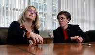 Amy Ludlow y Ruth Armstrong, docentes en Criminología de la Universidad de Cambridge. Foto: Fernando Ponzetto