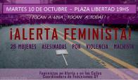 Marcha por un nuevo femicidio. Foto: Coordinadora de Feminismos UY
