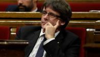 Carles Puigdemont, presidente regional de Cataluña. Foto: AFP.